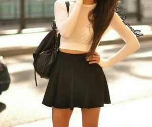 black, skirt, and style image