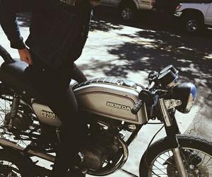 girl, bike, and biker image