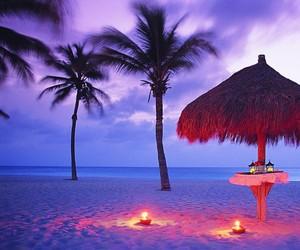beach and romantic image