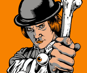 alex delarge, clockwork orange, and Stanley Kubrick image