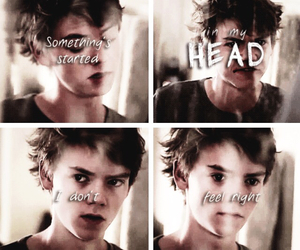 head, newt, and thomas sangster image