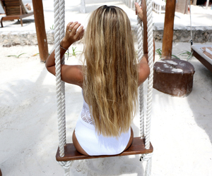 beach, blogger, and brune image