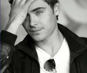black and white, Hot, and zac efron image