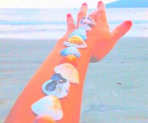 pastel, beach, and bright image