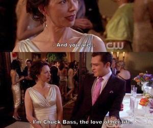 gossip girl, chuck bass, and love image