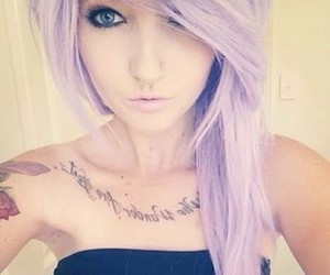 hair, tattoo, and tumblr girl image
