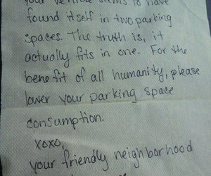 funny, note, and parking image