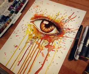 brown, draw, and eye image