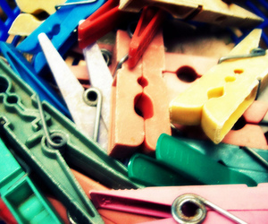 clips, colours, and mess image