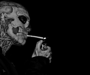 tattoo, cigarette, and smoke image