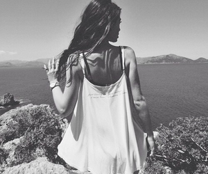 girl, summer, and black and white image