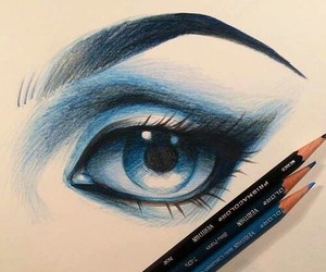 blue, eyes, and disegni image