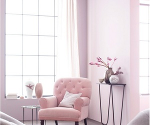 pink and home image
