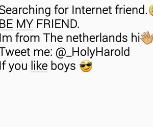 netherlands, internet friend, and friends image