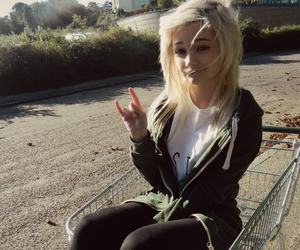 girl, blonde, and emo image
