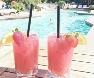 summer, drink, and pink image