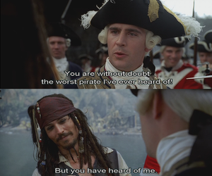 jack sparrow, pirate, and johnny depp image