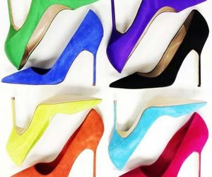 fashion, heels, and colors image