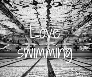 racing, swimming, and sport image