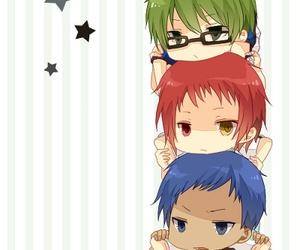 anime, chibi, and kuroko no basket image