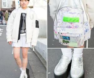bagpack, japan, and girl image