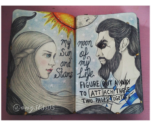 game of thrones, khal drogo, and love image