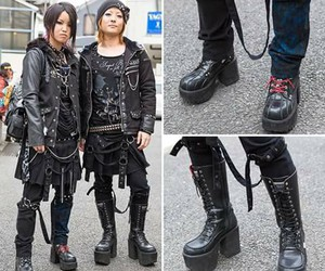 black, boots, and boy image