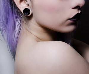 lips, tunnel, and septum image