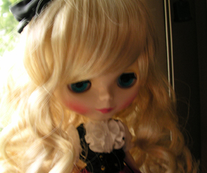 blond, blue eyes, and doll image