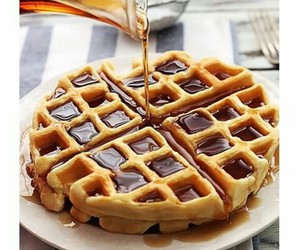 food, waffles, and cute image