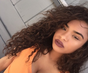 beauty, curly, and make up image