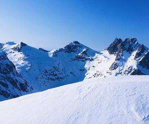 beautiful, mountains, and ski image