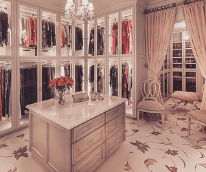 closet, luxury, and clothes image