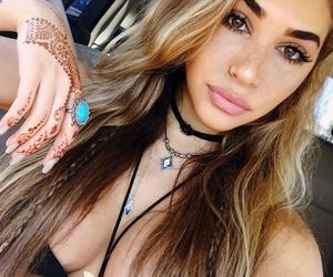 beautiful, eyes, and henna tattoo image