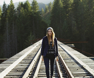 girl, style, and nature image