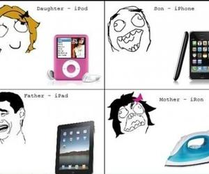 funny, iphone, and ipod image