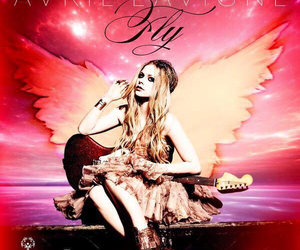 Avril Lavigne and fly image