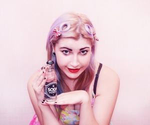 color hair, pin-up, and retro image