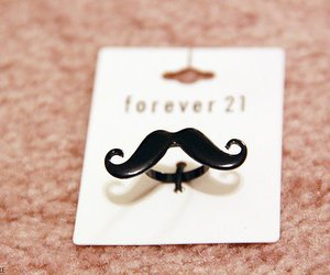 forever 21, ring, and moustache image
