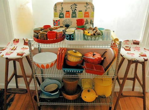 cart, dishes, and kitchen image