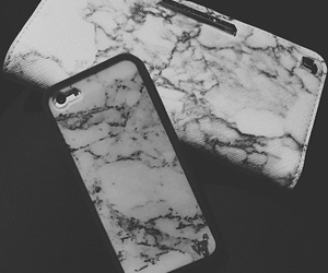 black & white, marble, and wallet image