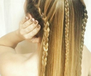 blonde, braid, and different image