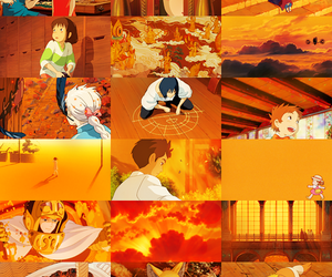 anime, orange, and studio ghibli image