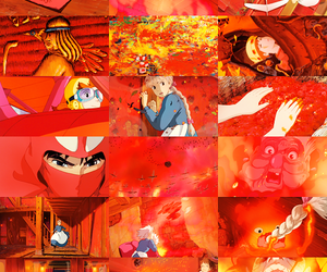 red, anime, and ghibli image