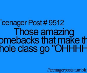 funny, comeback, and class image