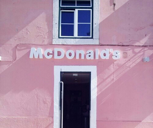 pink, McDonalds, and pastel image