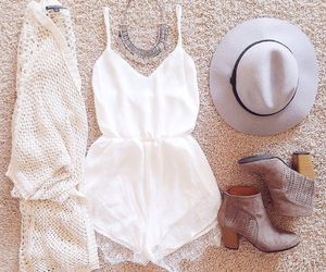 hat, hipster, and romper image