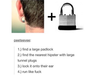 earing, funny, and hipster image