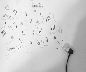 Dream, earbuds, and freedom image