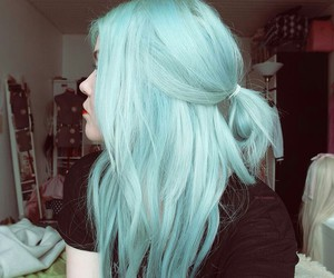 hair, blue, and pastel image
